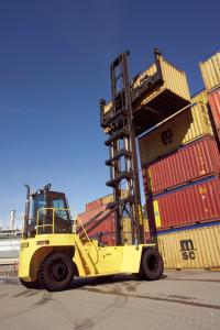 Hyster range of high capacity forklift trucks and container handlers