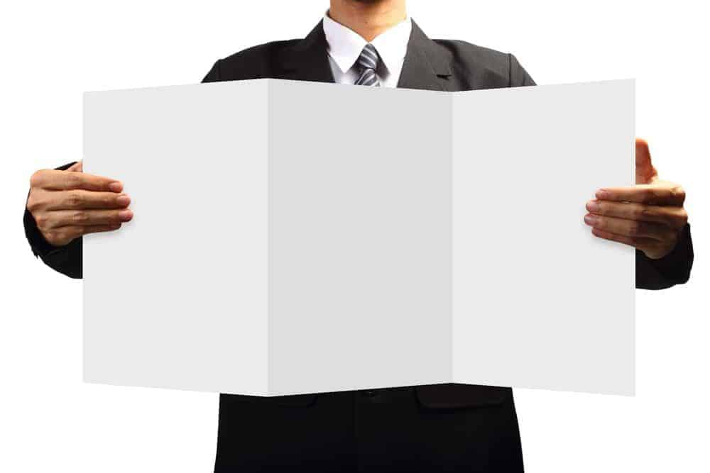 Using brochures effectively in a sales situation