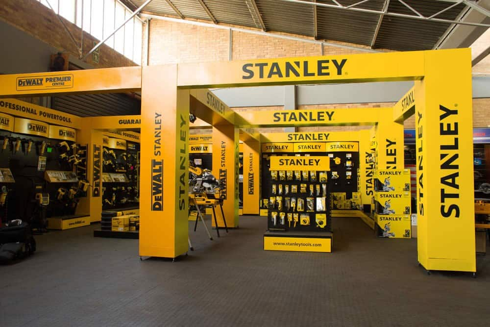 Stanley Black & Decker tool display
