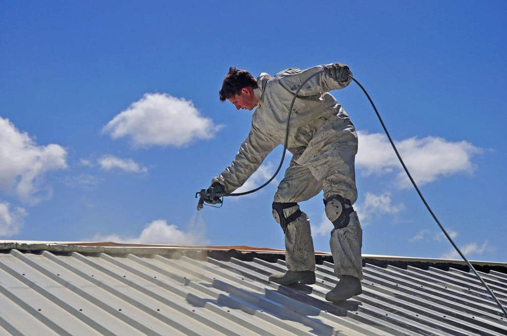 How to paint a roof